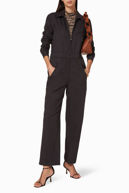 hover state of Utility Cotton Blend Jumpsuit