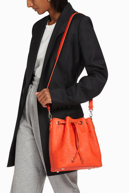 hover state of Small Bucket Bag in Monogram Nappa