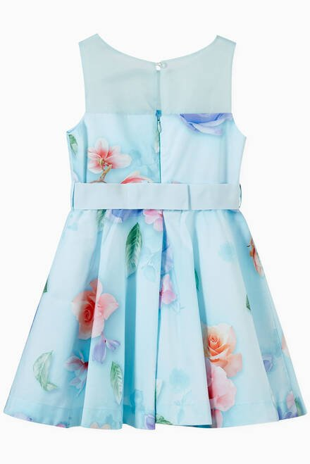 hover state of Floral Print Dress in Cotton