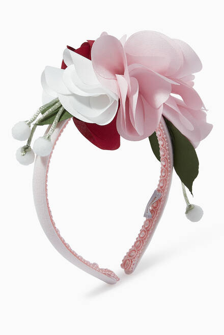 hover state of Floral Satin Headband