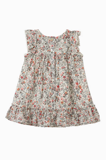 hover state of Liberty Print with Ruffles Dress