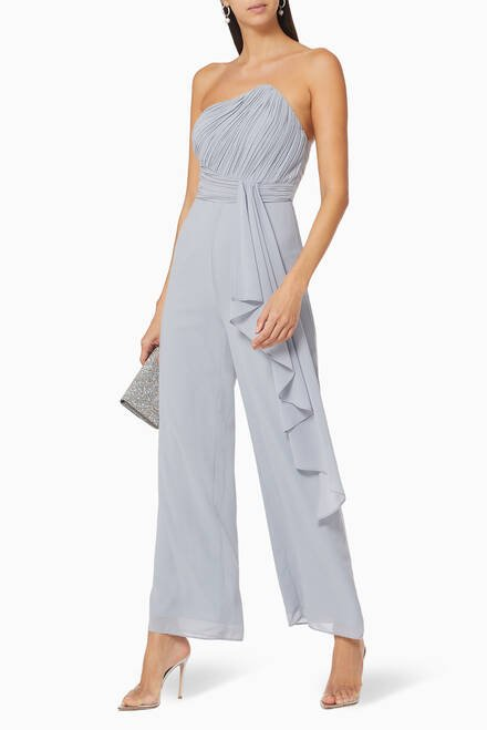 hover state of Pleated Bandeau Jumpsuit