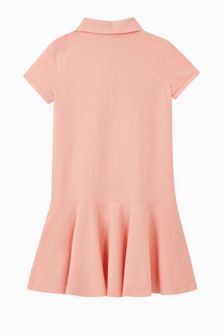 hover state of Pony Cotton Mesh Polo Dress