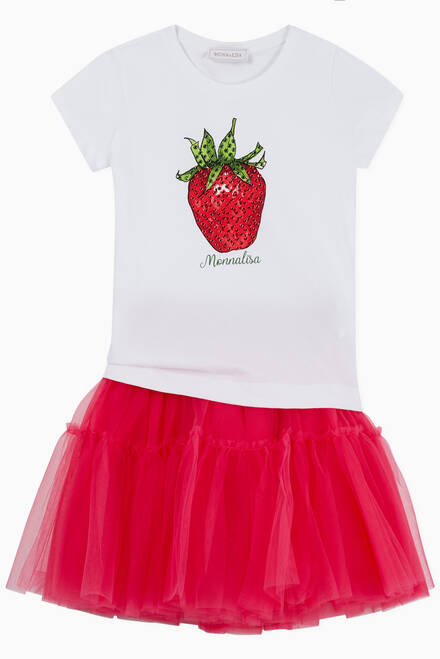 hover state of Strawberry Embellished T-shirt