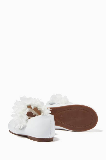 hover state of Flower Ballerinas in Bovine Leather