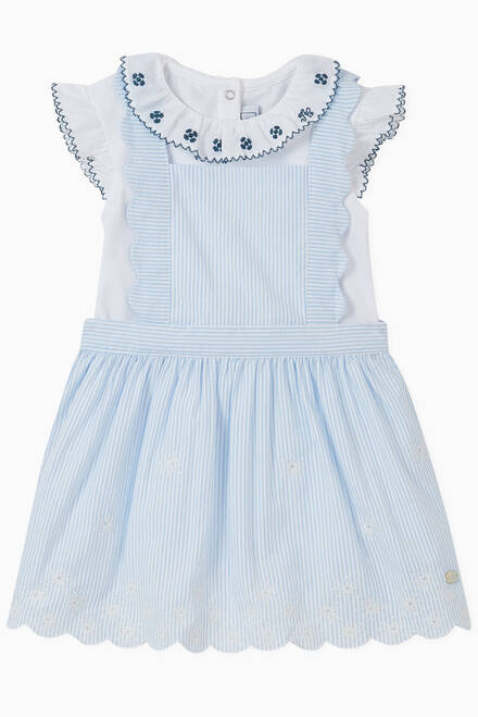 hover state of Scalloped Trims Pinafore Cotton Dress
