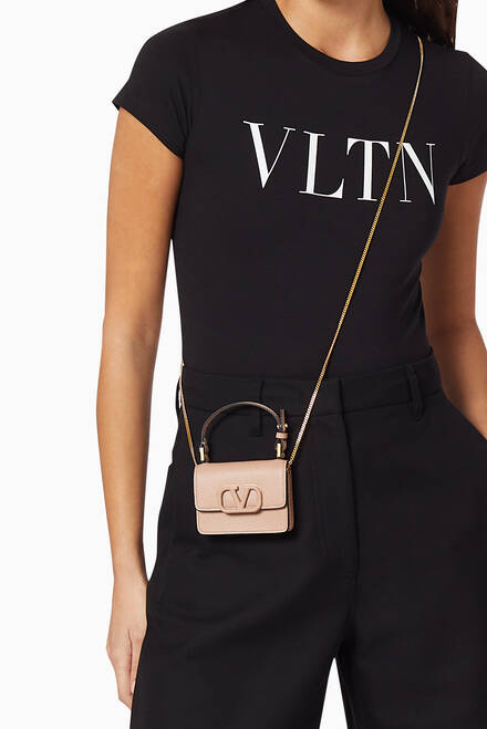 hover state of Valentino Garavani VSLING Mini Pouch on Chain in Grainy Calfskin