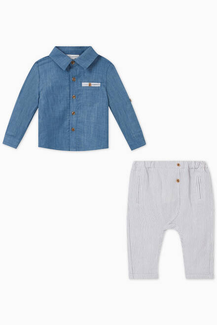 hover state of Cotton Shirt & Pant Set