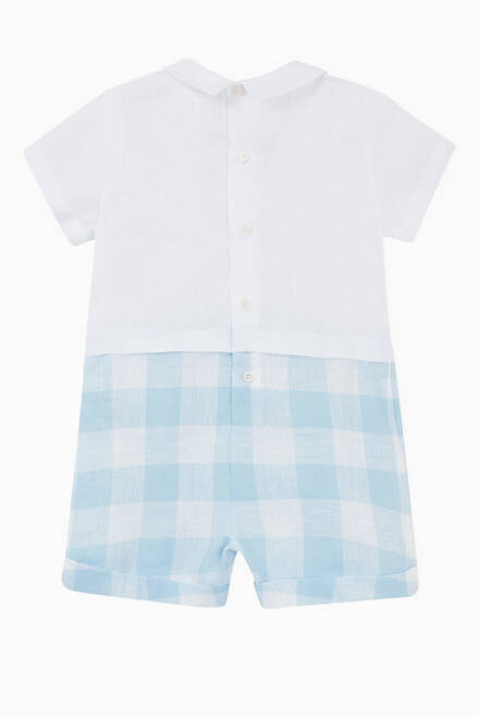 hover state of Gingham Romper in Cotton