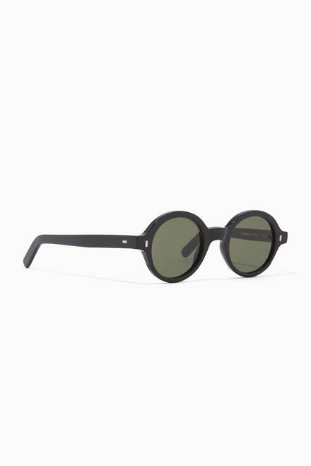 hover state of Reunion Bold Round Sunglasses in Acetate