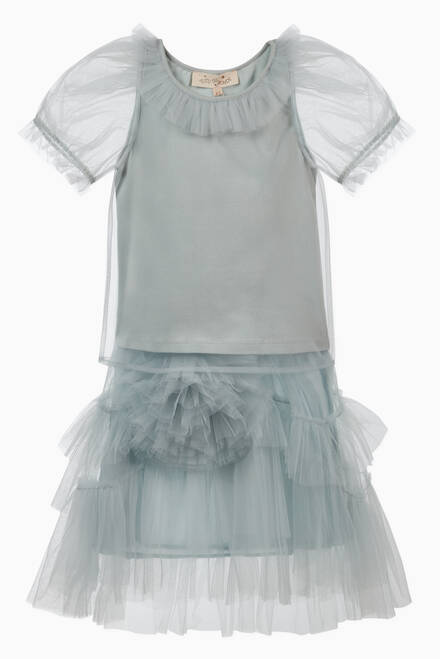 hover state of Brighton Ruffled Tulle Top