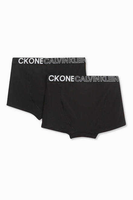hover state of Logo Trunks in Cotton, Set of 2