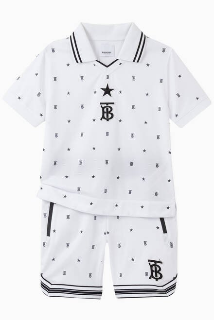 hover state of Star & Monogram Motif Jersey Mesh Shorts
