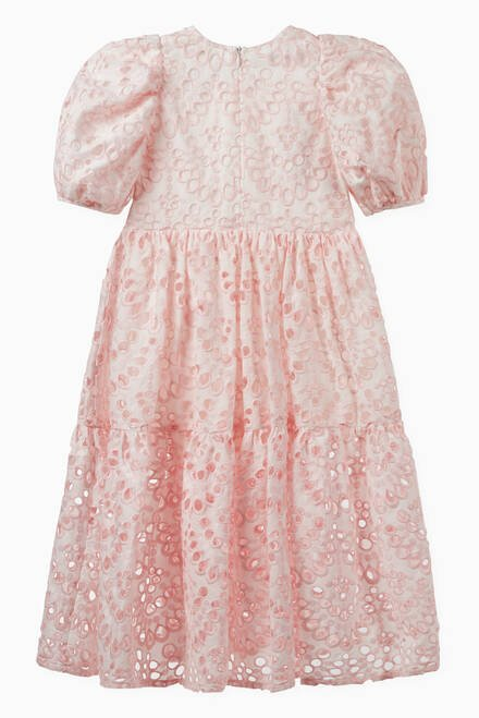 hover state of Broderie Anglaise Cotton Maxi Dress