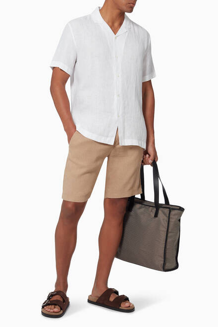 hover state of Edmund Shorts in Linen