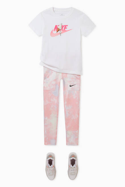 hover state of One Tie-Dye Leggings in Stretch Jersey