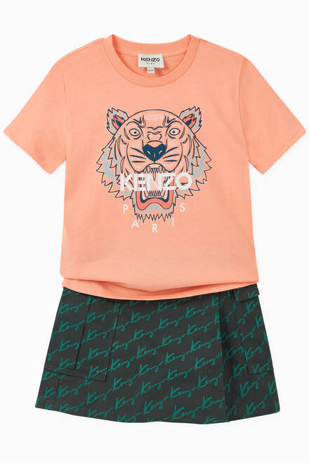 hover state of Kenzo Tiger Graphic T-shirt in Cotton Jersey
