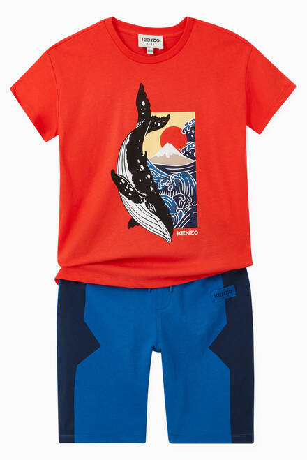 hover state of Kenzo Whale T-shirt in Cotton Jersey