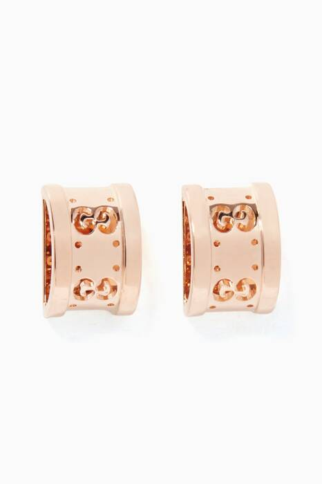 Rose-Gold Icon Twirl Earrings