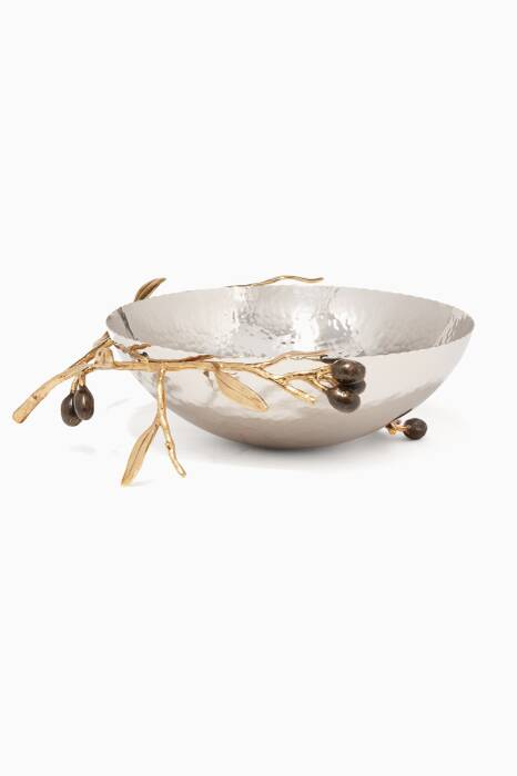 Medium Golden Olive Branch Serving Bowl