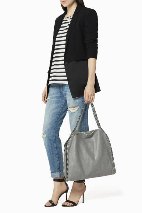 Grey Falabella Shaggy Deer Medium Tote Bag