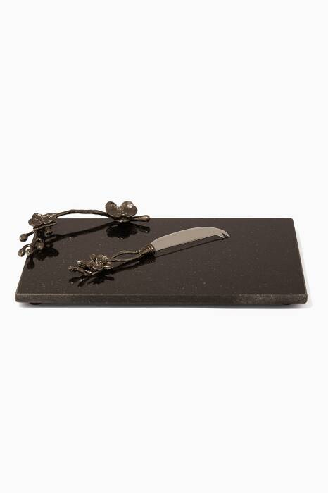 Black Orchid Cheeseboard With Small Knife