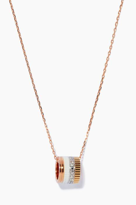 Mini Yellow, White & Rose-Gold Quatre White Edition Ring Pendant Necklace