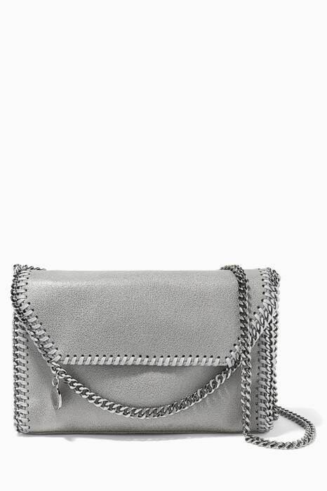 Grey Falabella Shaggy Deer Mini Shoulder Bag