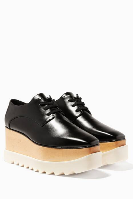 Black Elyse Platform Oxfords