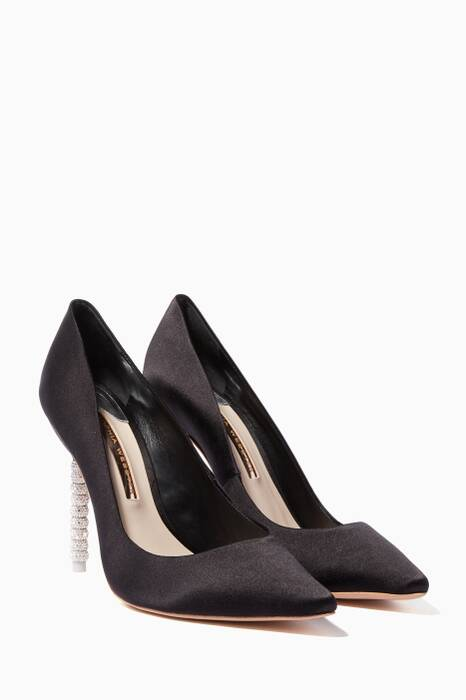 Black Coco Crystal Pumps