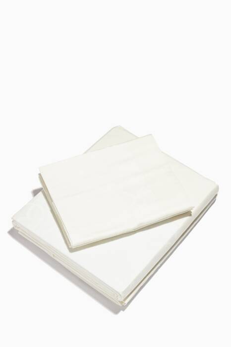 Ivory Super King-Sized Logo Sheet Set