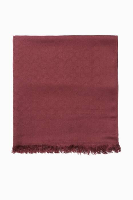 Sherry-Red Signature Jaquard Stole