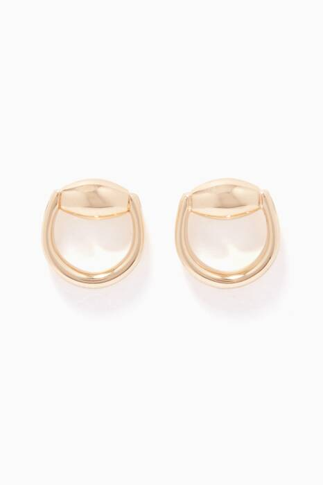 Yellow-Gold Horsebit Stud Earrings