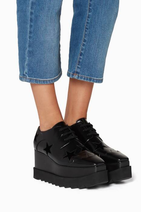 Black Elyse Star Metallic Platforms