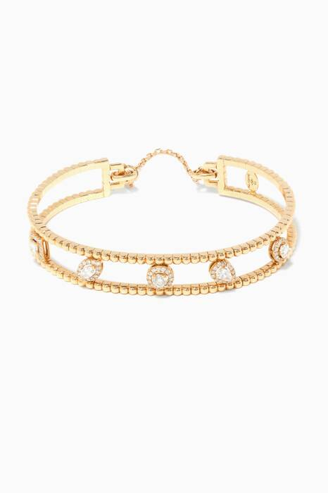 Yellow-Gold & Diamond Rock Candy Bangle