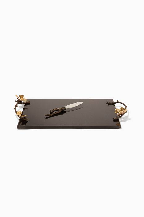 Butterfly Ginkgo Cheeseboard with Knife