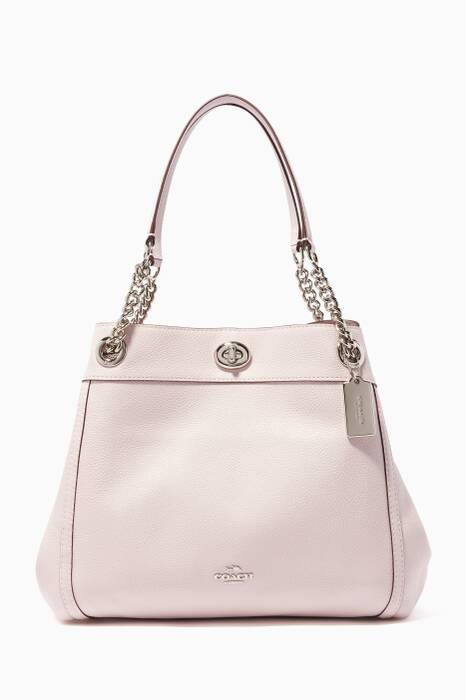 Ice-Pink Turnlock Edie Shoulder Bag
