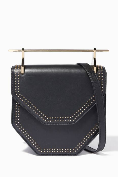 Black Amor Fati Leather Shoulder Bag