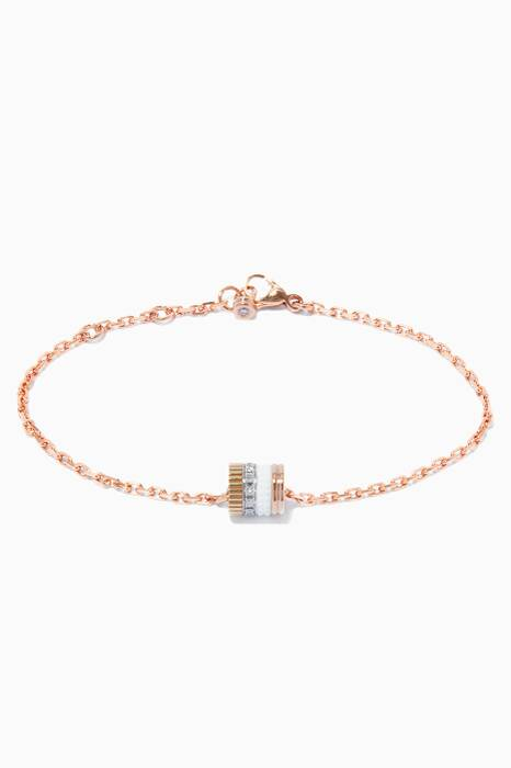 Yellow, White & Rose-Gold Ceramic Quatre Bracelet
