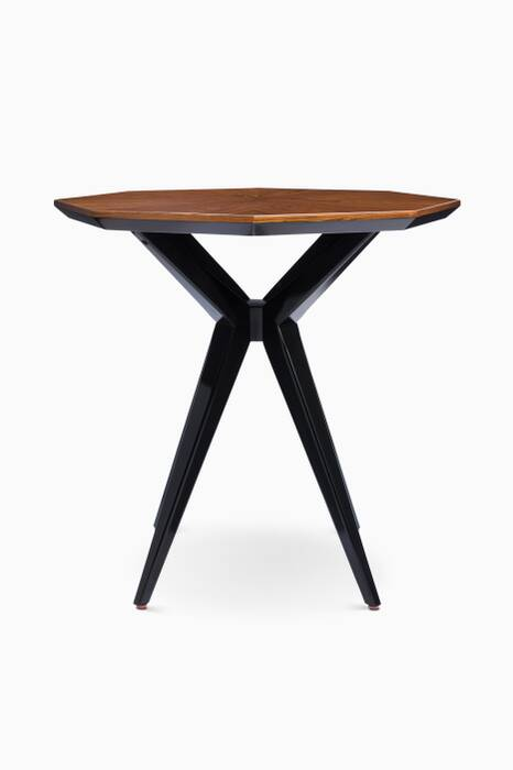 Rosewood & Onyx Starburst Side Table