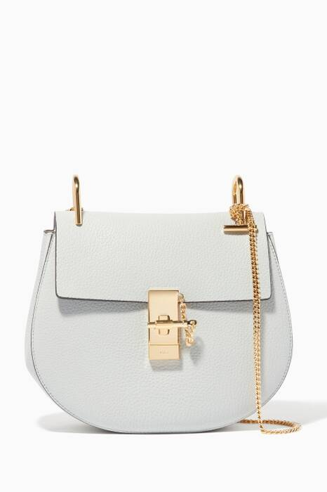 Airy-Grey Small Drew Shoulder Bag