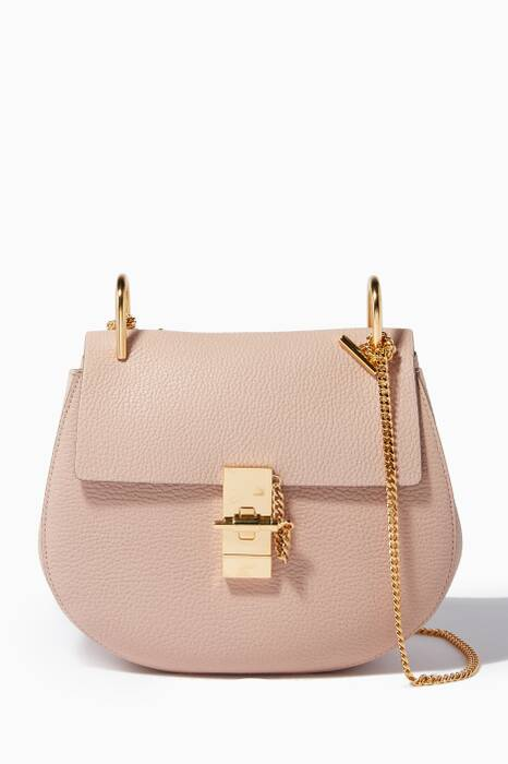 Cement Pink Small Drew Shoulder Bag
