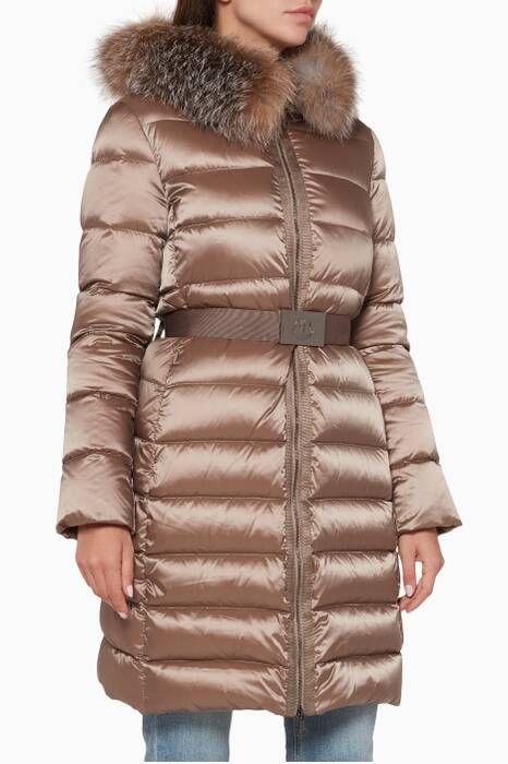 Khaki-Brown Tinuviel Quilted Jacket