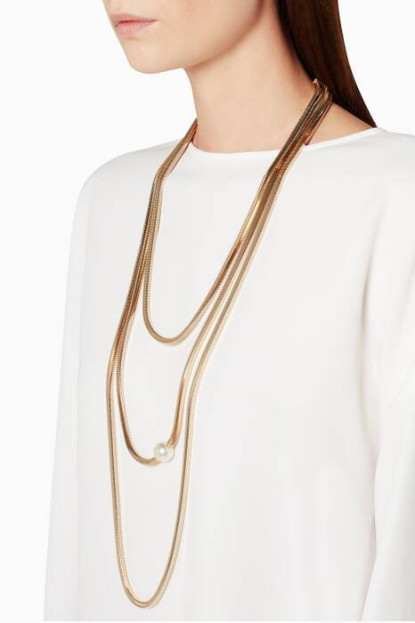 Sciliana Long Gold Necklace