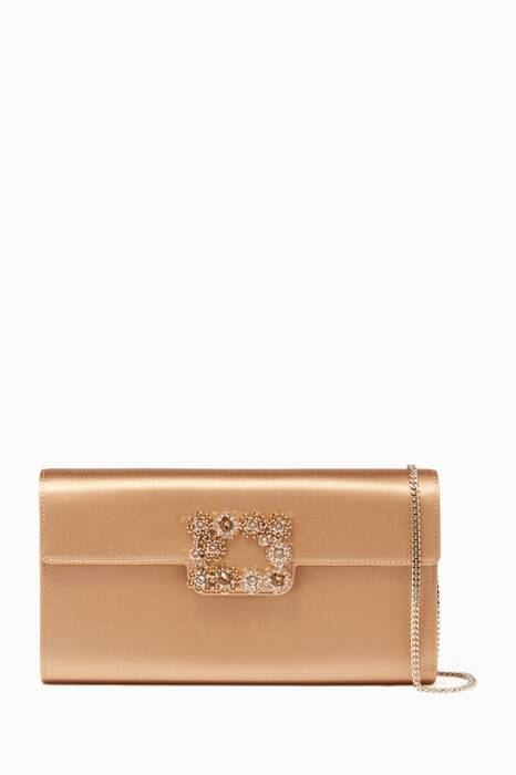 Beige Floral New-Evening Clutch Bag