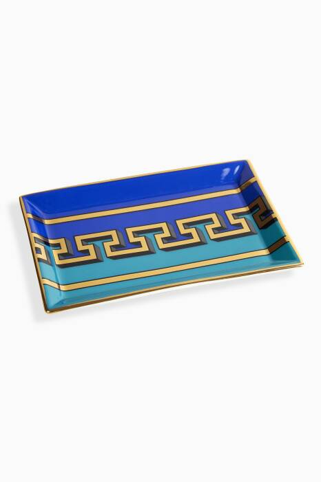 Blue Mykonos Rectangle Tray
