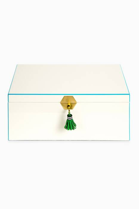 White Large Lacquer Jewellery Box