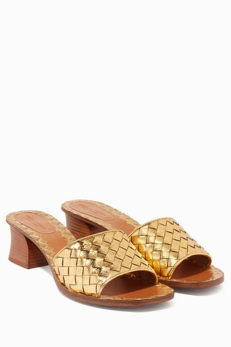 Metallic Gold Ravello  Intrecciato Sandals