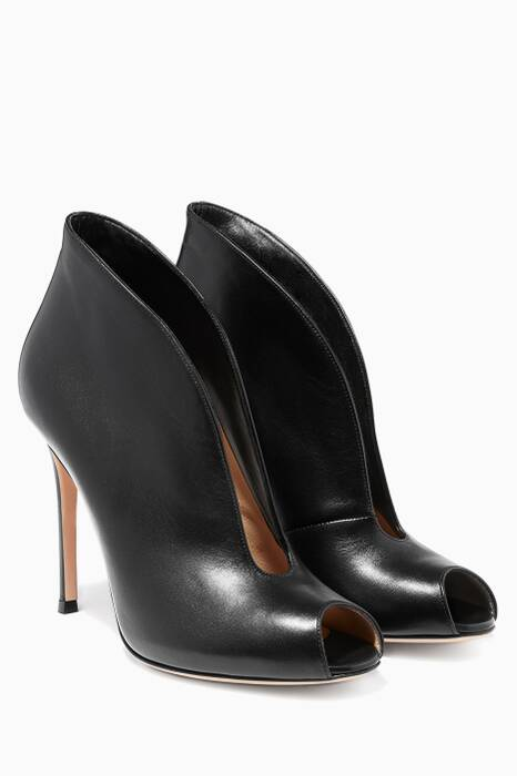 Black Peep-toe Boot