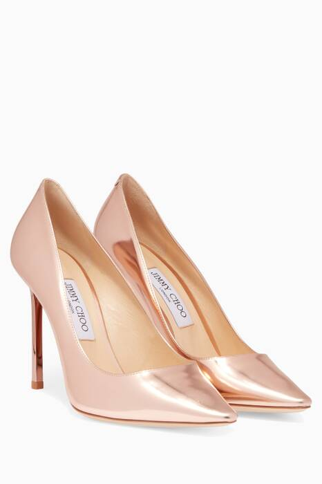 Gold-Metallic Romy Pumps